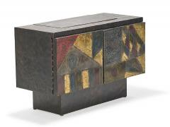Paul Evans Fine patch welded steel cabinet by Paul Evans - 1172963
