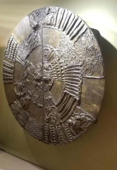Paul Evans Iconic Paul Evans Studio Sculpted Bronze Wall Mount Disc Bar for Directional - 1345498