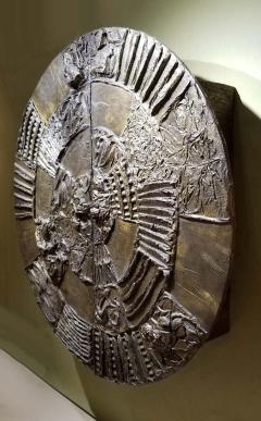 Paul Evans Iconic Paul Evans Studio Sculpted Bronze Wall Mount Disc Bar for Directional - 1345499