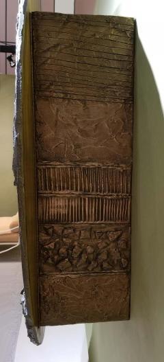 Paul Evans Iconic Paul Evans Studio Sculpted Bronze Wall Mount Disc Bar for Directional - 1345505