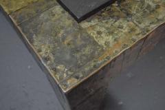 Paul Evans Large Paul Evans Slate Top Patchwork Coffee Table - 1470129