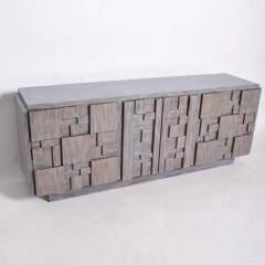 Paul Evans Mid Century Brutalist Dresser Lane Patchwork Walnut Tiles After Paul Evans - 1062585
