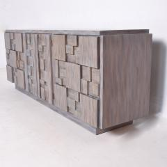Paul Evans Mid Century Brutalist Dresser Lane Patchwork Walnut Tiles After Paul Evans - 1062587