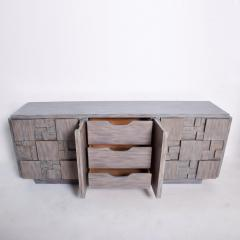 Paul Evans Mid Century Brutalist Dresser Lane Patchwork Walnut Tiles After Paul Evans - 1062589