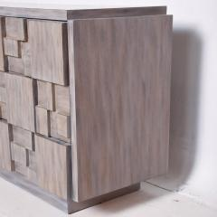 Paul Evans Mid Century Brutalist Dresser Lane Patchwork Walnut Tiles After Paul Evans - 1062590