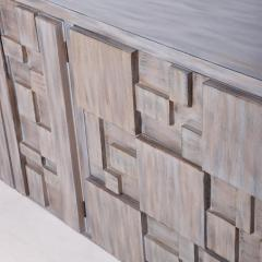Paul Evans Mid Century Brutalist Dresser Lane Patchwork Walnut Tiles After Paul Evans - 1062591