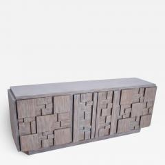 Paul Evans Mid Century Brutalist Dresser Lane Patchwork Walnut Tiles After Paul Evans - 1063104