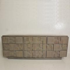 Paul Evans Mid Century Modern Brutalist Lane Credenza Dresser in Custom Grey Finish - 1005680