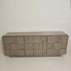 Paul Evans Mid Century Modern Brutalist Lane Credenza Dresser in Custom Grey Finish - 1005681