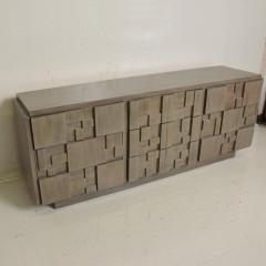 Paul Evans Mid Century Modern Brutalist Lane Credenza Dresser in Custom Grey Finish - 1005695