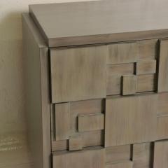 Paul Evans Mid Century Modern Brutalist Lane Credenza Dresser in Custom Grey Finish - 1005696