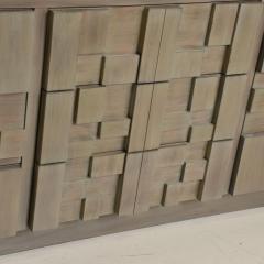 Paul Evans Mid Century Modern Brutalist Lane Credenza Dresser in Custom Grey Finish - 1005697