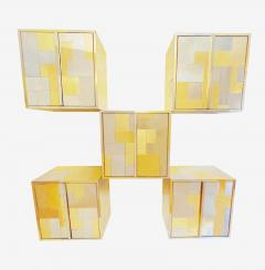 Paul Evans Mid Century Modern Paul Evans Cityscape Modular Wall Unit with Five Cabinets - 2059055