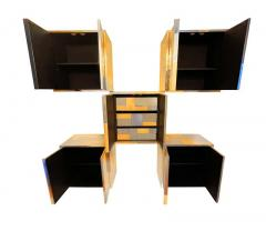 Paul Evans Mid Century Modern Paul Evans Cityscape Modular Wall Unit with Five Cabinets - 2059057