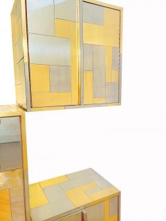 Paul Evans Mid Century Modern Paul Evans Cityscape Modular Wall Unit with Five Cabinets - 2059066
