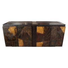 Paul Evans Model PE 40A brutalist patchwork cabinet - 1306185