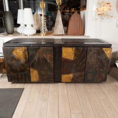 Paul Evans Model PE 40A brutalist patchwork cabinet - 1306187