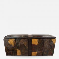 Paul Evans Model PE 40A brutalist patchwork cabinet - 1309057