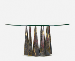 Paul Evans PAUL EVANS WELDED AND PATINATED STEEL DINING TABLE - 1911336