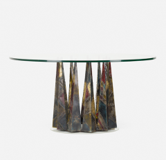 Paul Evans PAUL EVANS WELDED AND PATINATED STEEL DINING TABLE - 1911340