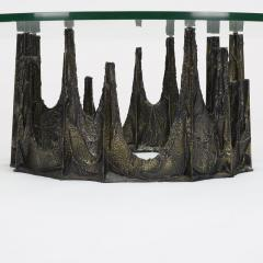 Paul Evans Paul Evans Bronze and Glass Stalagmite Coffee Table - 1020832