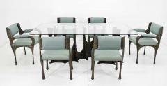Paul Evans Paul Evans Brutalist Stalagmite Bronze and Resin Base Dining Table 1972 Signed - 1255623