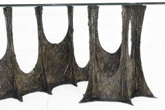 Paul Evans Paul Evans Brutalist Stalagmite Bronze and Resin Base Dining Table 1972 Signed - 1255633