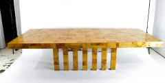 Paul Evans Paul Evans Burl Wood and Chrome Cityscape Dining Table - 1261297