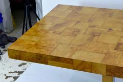 Paul Evans Paul Evans Burl Wood and Chrome Cityscape Dining Table - 1261300