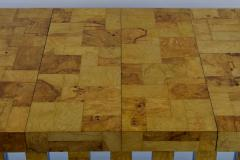 Paul Evans Paul Evans Burl Wood and Chrome Cityscape Dining Table - 1261301