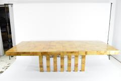 Paul Evans Paul Evans Burl Wood and Chrome Cityscape Dining Table - 1261307