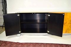 Paul Evans Paul Evans Cityscape Console in Burl Wood and Chrome - 1269877