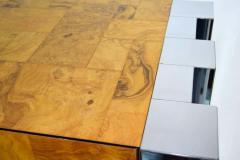 Paul Evans Paul Evans Cityscape Console in Burl Wood and Chrome - 1269880