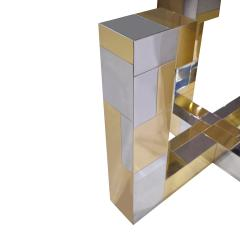 Paul Evans Paul Evans Cityscape Dining Table in Tessellated Chrome and Brass 1970s - 1695002