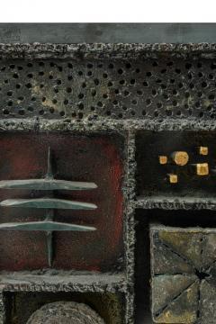 Paul Evans Paul Evans Custom Sculpture Front Two Door Cabinet for Directional - 1141954
