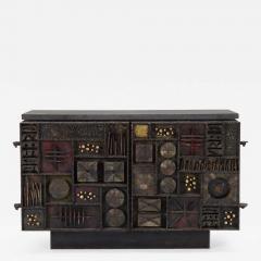Paul Evans Paul Evans Custom Sculpture Front Two Door Cabinet for Directional - 1142943
