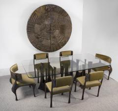 Paul Evans Paul Evans Dining Set in Sculpted Bronze 1969 - 1635530