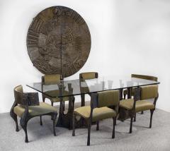 Paul Evans Paul Evans Dining Set in Sculpted Bronze 1969 - 1635531
