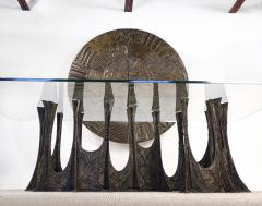 Paul Evans Paul Evans Dining Set in Sculpted Bronze 1969 - 1635532