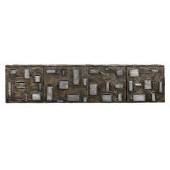 Paul Evans Paul Evans Important Sculpted Bronze Wall Cabinet 1969 Signed  - 2122104