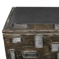 Paul Evans Paul Evans Important Sculpted Bronze Wall Cabinet 1969 Signed  - 2122106