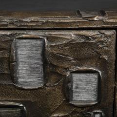 Paul Evans Paul Evans Important Sculpted Bronze Wall Cabinet 1969 Signed  - 2122107