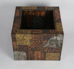 Paul Evans Paul Evans Pewter Brass and Copper Patchwork Cocktail Table Circa 1970s - 483166