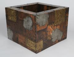 Paul Evans Paul Evans Pewter Brass and Copper Patchwork Cocktail Table Circa 1970s - 483167