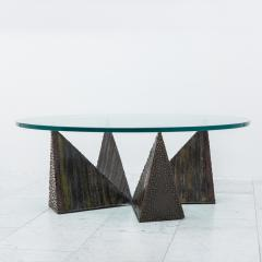 Paul Evans Paul Evans Polychromed Sculpted Steel Coffee Table for Directional USA 1970s - 391295