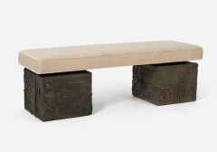 Paul Evans Paul Evans Sculpted Bronze Bench - 1102160