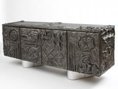 Paul Evans Paul Evans Sculpted Bronze Floating Cabinet in Argente Finish 1969 - 473119
