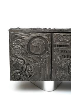 Paul Evans Paul Evans Sculpted Bronze Floating Cabinet in Argente Finish 1969 - 473125