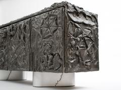 Paul Evans Paul Evans Sculpted Bronze Floating Cabinet in Argente Finish 1969 - 473126