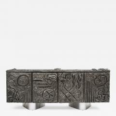 Paul Evans Paul Evans Sculpted Bronze Floating Cabinet in Argente Finish 1969 - 475633